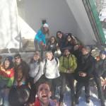 Adolescenti sulla neve al Pian delle Betulle